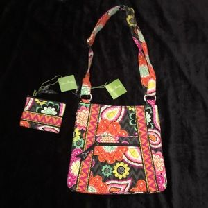 "Vera Bradley handbag and coin purse ""Ziggy Zinnia"""